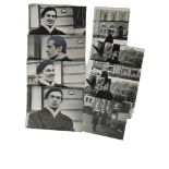 [Rudolf Nureyev (1938-1993)] Nine photographs, street photography. Black and white printing. Maximum