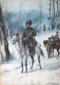 KOUMBERG P. (?) (XIX-XIX) The Cossacks signed (lower right) watercolor on paper 19 x 13 cm ?