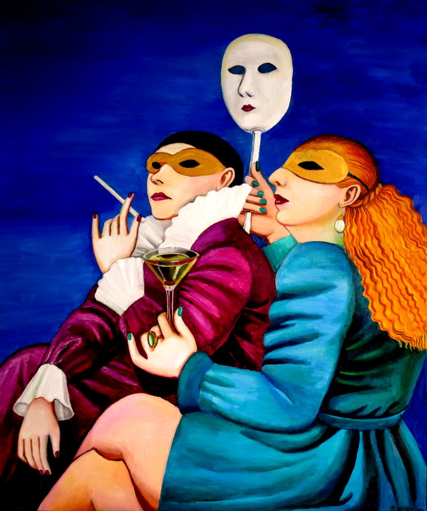 TATYANA NAZARENKO The Carnival of Venice signed (lower right) oil on canvas 120 ? 100 cm painted