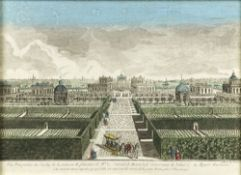 Unknown French engraver North side view of the garden of the house of A. P. Bestuzhev-Ryumin on