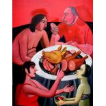 TATYANA NAZARENKO Snack bar number 2 oil on canvas 120 ? 100 cm painted in 2017 (+) This lot is