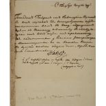 PAUL I (1796-1801) Office manuscript. St. Petersburg, March 4, 1799 1 p. 22.6x18.4 cm. In Russian.