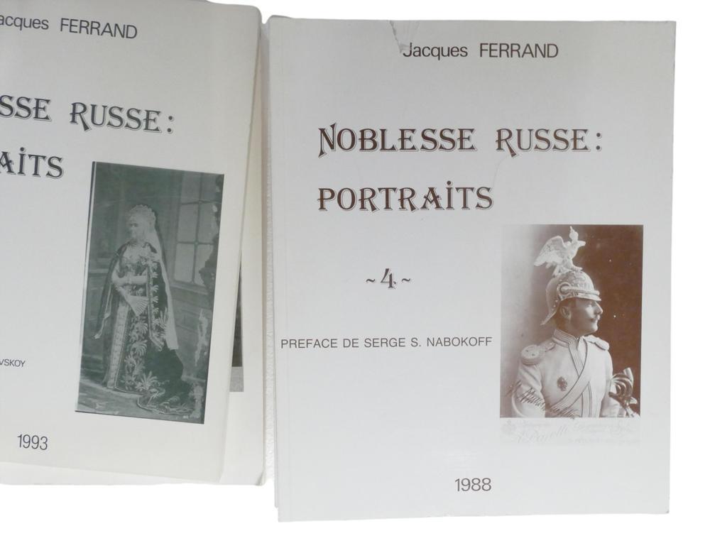 JACQUES FERRAND (1943-2007) Noblesse russe: Portraits Préf. du prince Dimitri M. Schakhovskoy et - Image 9 of 12