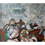 Leonid MIKHAILOVICH BRAILOVSKY (1867-1937) Moscow. The festivities oil on canvas 63 x 75.5 cm