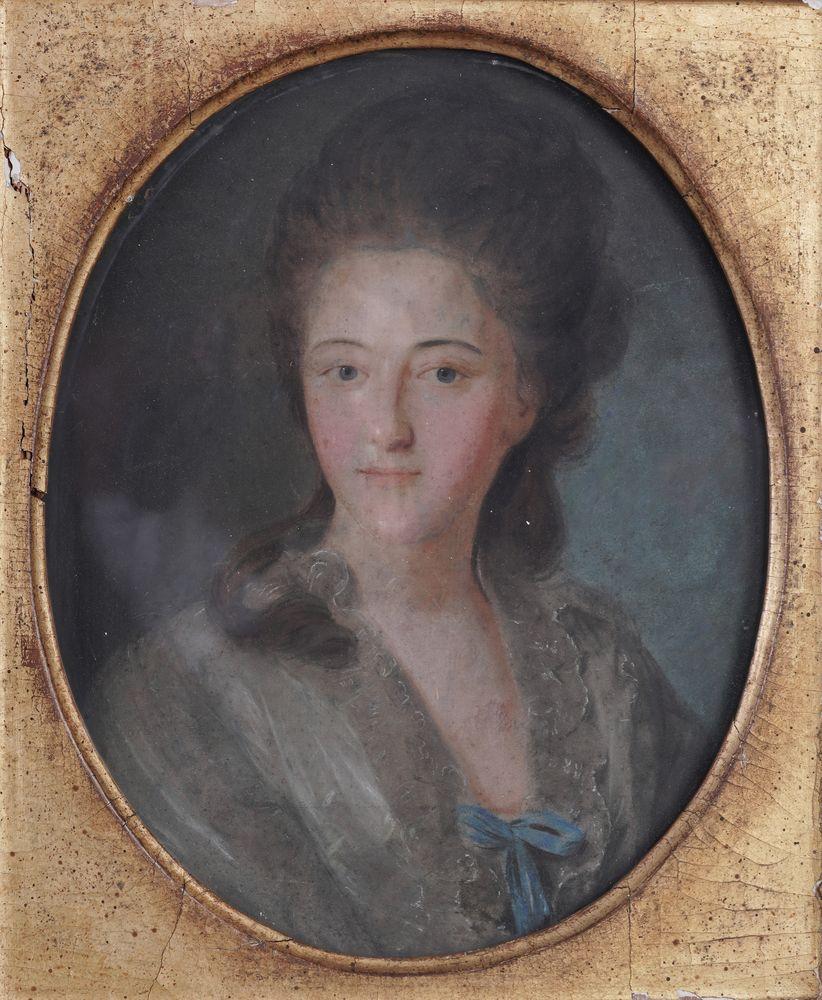 Johann Bardou (second half of 18th century) after Fyodor Rokotov Portrait of a lady pastel on