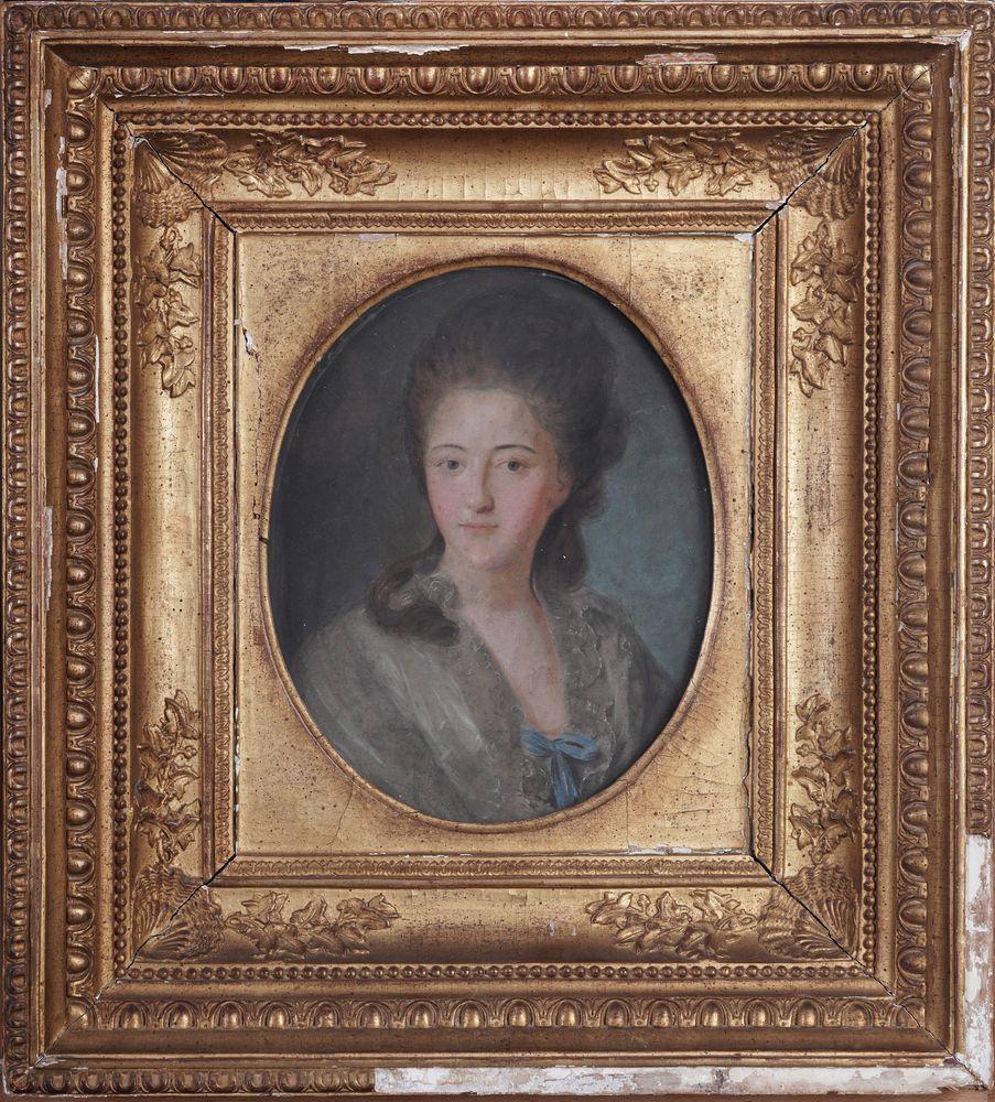 Johann Bardou (second half of 18th century) after Fyodor Rokotov Portrait of a lady pastel on - Image 2 of 3