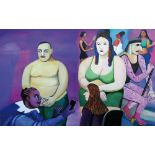 TATYANA NAZARENKO Before going to the podium signed (lower right) oil on canvas 120 ? 160 cm (+)