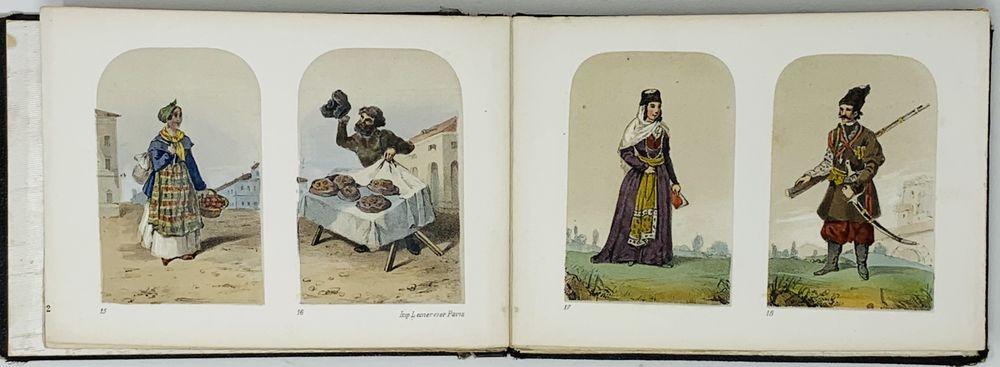 RUSSIAN COSTUMES Costumes Russes. Paris: Imp. Lemercier, [première moitié du XIXe siècle]. The album - Image 4 of 6