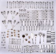 A RUSSIAN SILVER CANTEEN OF CUTLERY FOR TWELVE, HEMPEL BROTHERS (190 pieces) Russian Empire, Warsaw,