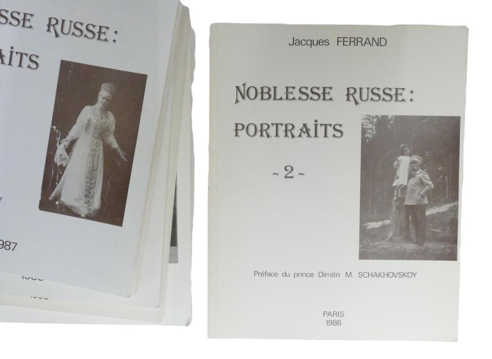 JACQUES FERRAND (1943-2007) Noblesse russe: Portraits Préf. du prince Dimitri M. Schakhovskoy et - Image 5 of 12