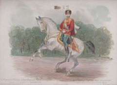 E. I. MARKUS, from G. K. BAKMANSON's series, edited by R. V. PATS. Nicholas II in the uniform of the
