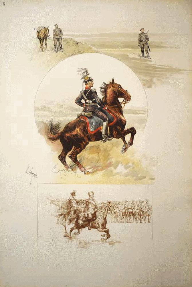 SAMOKISH N.S. (1860-1944) Scenes from the life of the Guards Cavalry. St. Petersburg: A. Il'in, - Image 5 of 5