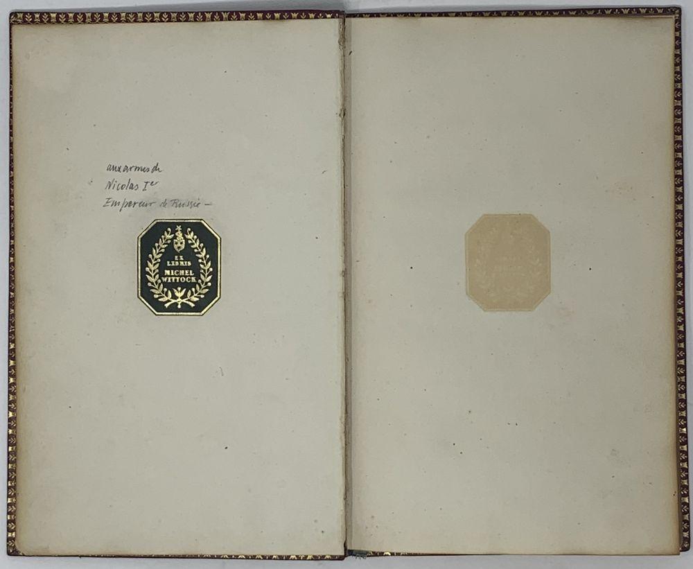 SUPEREx libris OF EMPEROR NIKOLAI I (1825-1855) Milly A., de. Les Génies de la France, ou le - Image 4 of 4