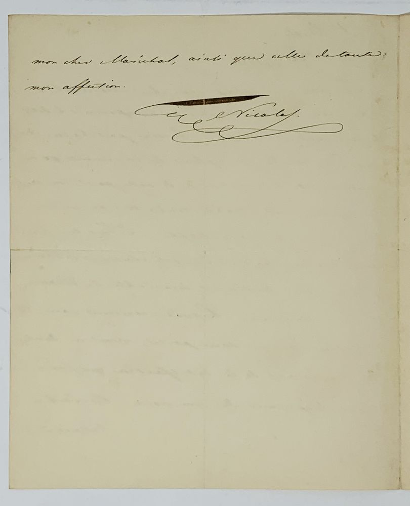 NICHOLAS I (1825-1855) A handwritten letter addressed to Marshal de Marmont. St. Petersburg, - Image 2 of 2