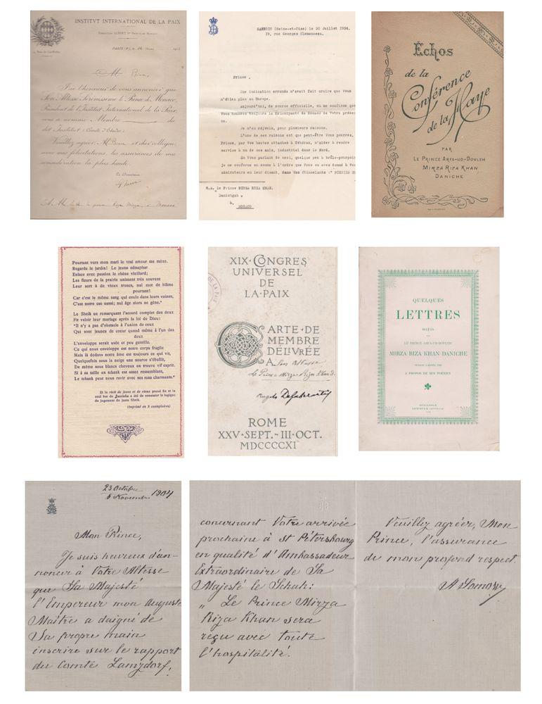 MIRZA RIZA KHAN ARFA OD-DOVLA (Mirza RZA Khan Tabrizi; 1846-1937), PERSONAL ARCHIVE More than 30 - Image 2 of 3