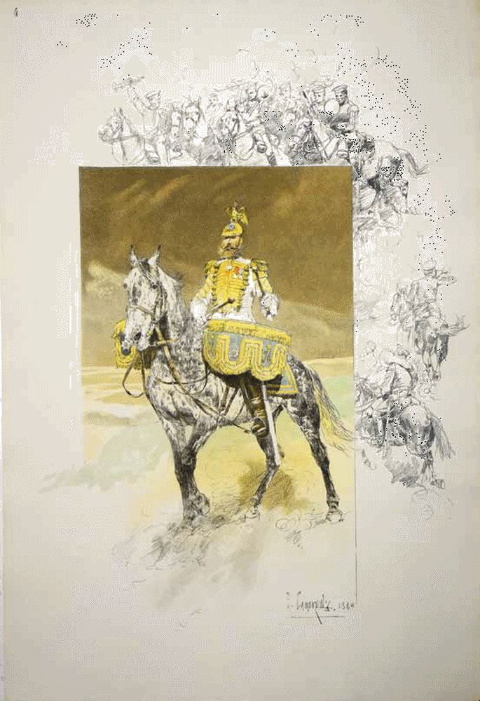 SAMOKISH N.S. (1860-1944) Scenes from the life of the Guards Cavalry. St. Petersburg: A. Il'in, - Image 2 of 5
