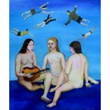 TATYANA NAZARENKO Three Graces signed (lower right) oil on canvas 120 ? 100 cm painted in 2017 (+)