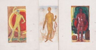 Vasily SHUKHAEV (1887-1973) Three drawings: April, June, September inscribed in pencil 'April /
