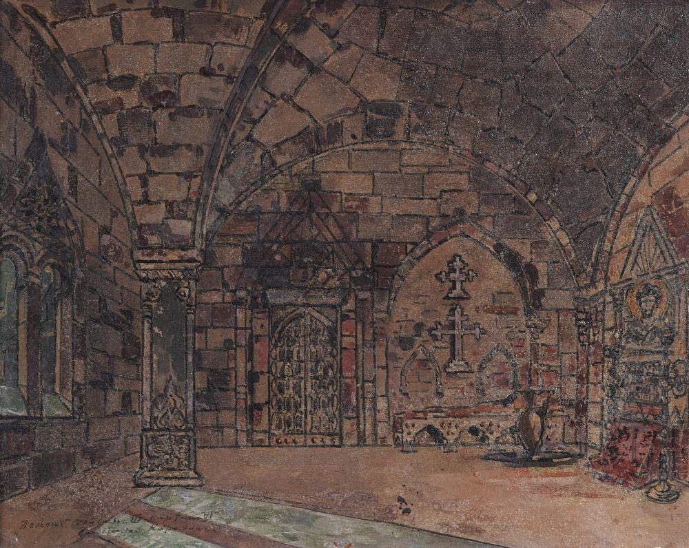 Konstantin Korovin (1861-1939) Stage design for opera 'Demon' (1903) by Anton Rubinstein in The