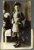 TSAREVICH ALEXEY NIKOLAEVICH (1904-1918) Photo of the Tsarevich in the Leib Cossack uniform. New