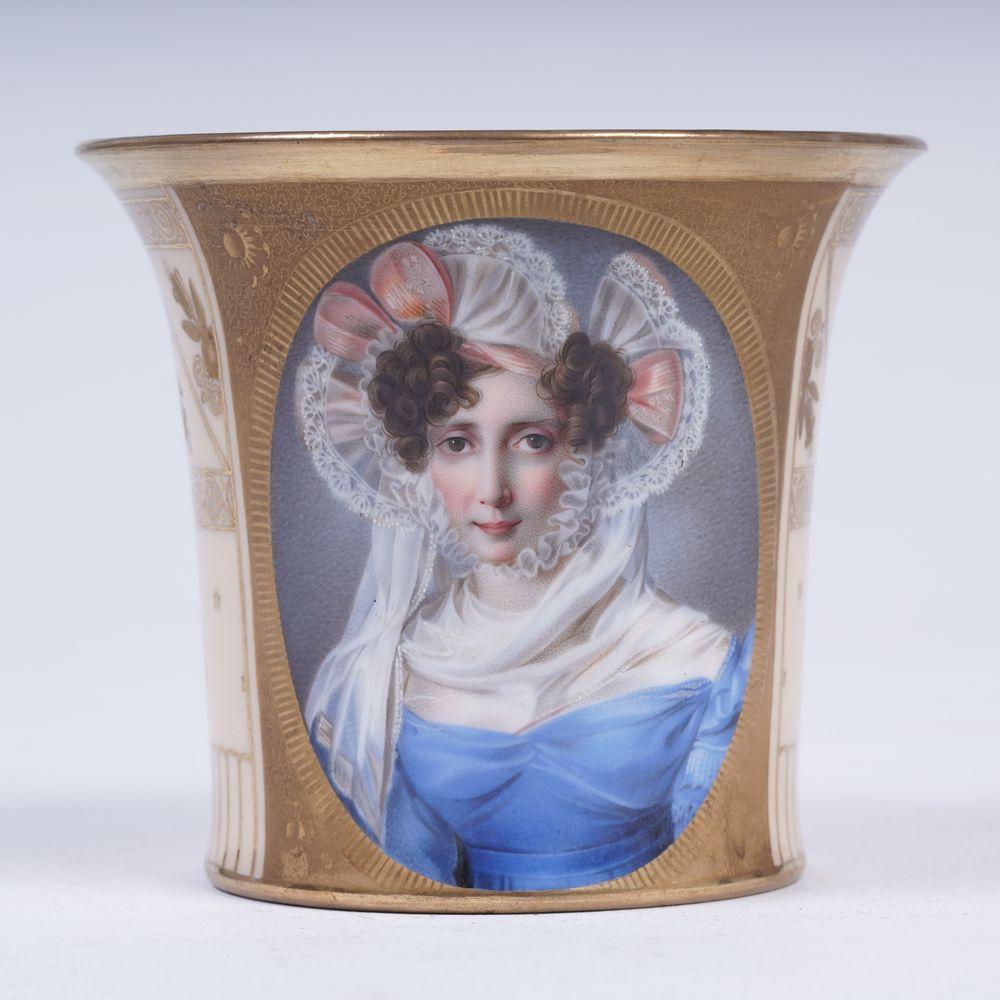 Porcelain Cup with a portrait of T. B. Potemkina Prince N. B. Yusupov's Porcelain studio in