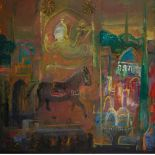 MAMED MAMEDOV (B. 1950) My city, on? day in Bozovn? signed (lower left) signed, titled, inscribed
