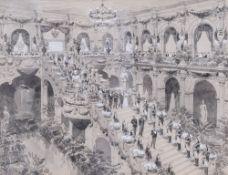 MALLBRUN (?) (XIX-XIX) Reception of Nicholas II and Aleksandra Fedorovna at the Paris City Hall in