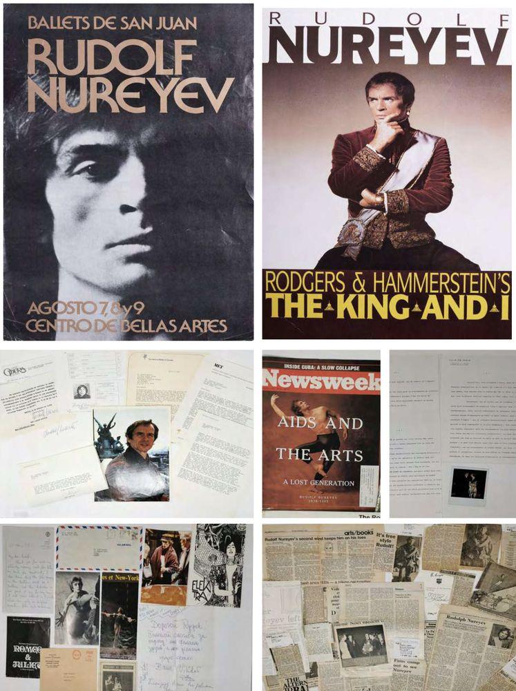Rudolf Nureyev (1938-1993) collection 1) Two posters of Rudolf Nureyev's ballet «Don Juan». Black