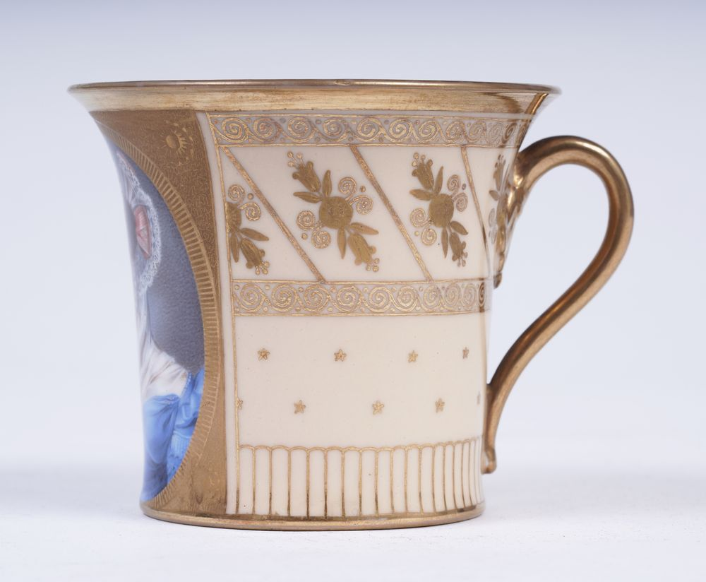 Porcelain Cup with a portrait of T. B. Potemkina Prince N. B. Yusupov's Porcelain studio in - Image 2 of 3
