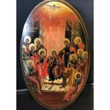 """AN ICON « THE DESCENT OF THE HOLY SPIRIT ON THE APOSTLES"""" Russia, Vladimir region, the first half of"""