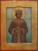 An icon 'Saint Tsarevich Dimitri' Moscow, end of 19th century Wood, gesso, gold leaf, tempera 13,7 ?