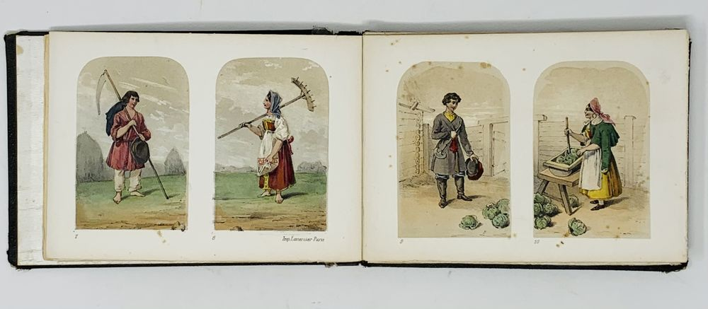 RUSSIAN COSTUMES Costumes Russes. Paris: Imp. Lemercier, [première moitié du XIXe siècle]. The album - Image 3 of 6