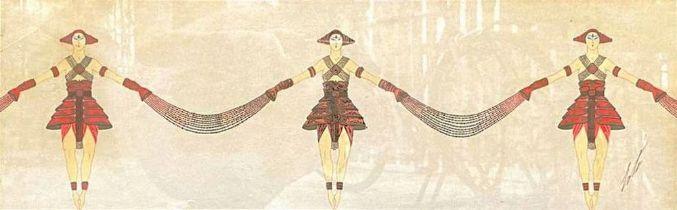 ERTE (ROMAIN DE TIRTOFF)(1892-1990) Costume design for 'Les Trésors de l'Indochine, L'Alcazar de