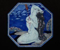 GEORGE BARBIER (1882 - 1932) Bilitis. The Last Lover. The Songs of Bilitis watercolour and Chinese