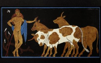 GEORGE BARBIER (1882 - 1932) Lykas, The Songs of Bilitis watercolour and Chinese ink on paper 10 x