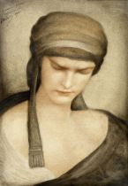 LEONARD SARLUIS (1878-1948) Contemplation signed, dedicated to Monsieur Hennion and dated '1910' (