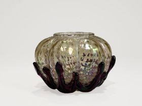 LOETZ Iridescent glass vase diameter: 14cm height: 9 cm The glass factory established by Johann