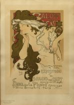 ALPHONSE MUCHA (1860-1939) Poster for 'Salon des Cent 20th Exhibition' signed in plate 'Mucha' (