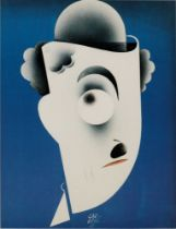 PAOLO GARRETTO (1903-1989) [Charlie Chaplin] Caricature of Charlie Chaplin signed and dated in plate
