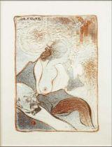 GEORGES DE FEURE (1868-1943) Vieux Monsieur décoré, jeune femme dévêtue signed 'De Feure' (upper