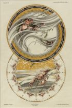 Jules Auguste Habert-Dys (1850-1930) 'Fantasies Decoratives': plates 13, 33 and 35 signed in
