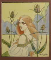ANDRE DES GACHONS (1871-1951) Flora signed and dated 'André des Gachons 1896' (lower right)