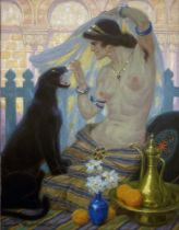 Ludovic Alleaume (1859-1941) Felins (c.1927) signed ' Ludovic Alleaume' (lower left) oil on canvas
