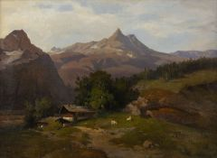 P. LANGENMEIER, ALM IN GEBIRGSLANDSCHAFT