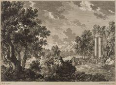 GABRIEL PERELLE 1604 Vernon - 1677 Paris (2 Stck.)