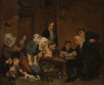 HERMANUS JACOBUS SLOTHOUWER, FAMILIE BEIM VORLESEN DER BIBEL