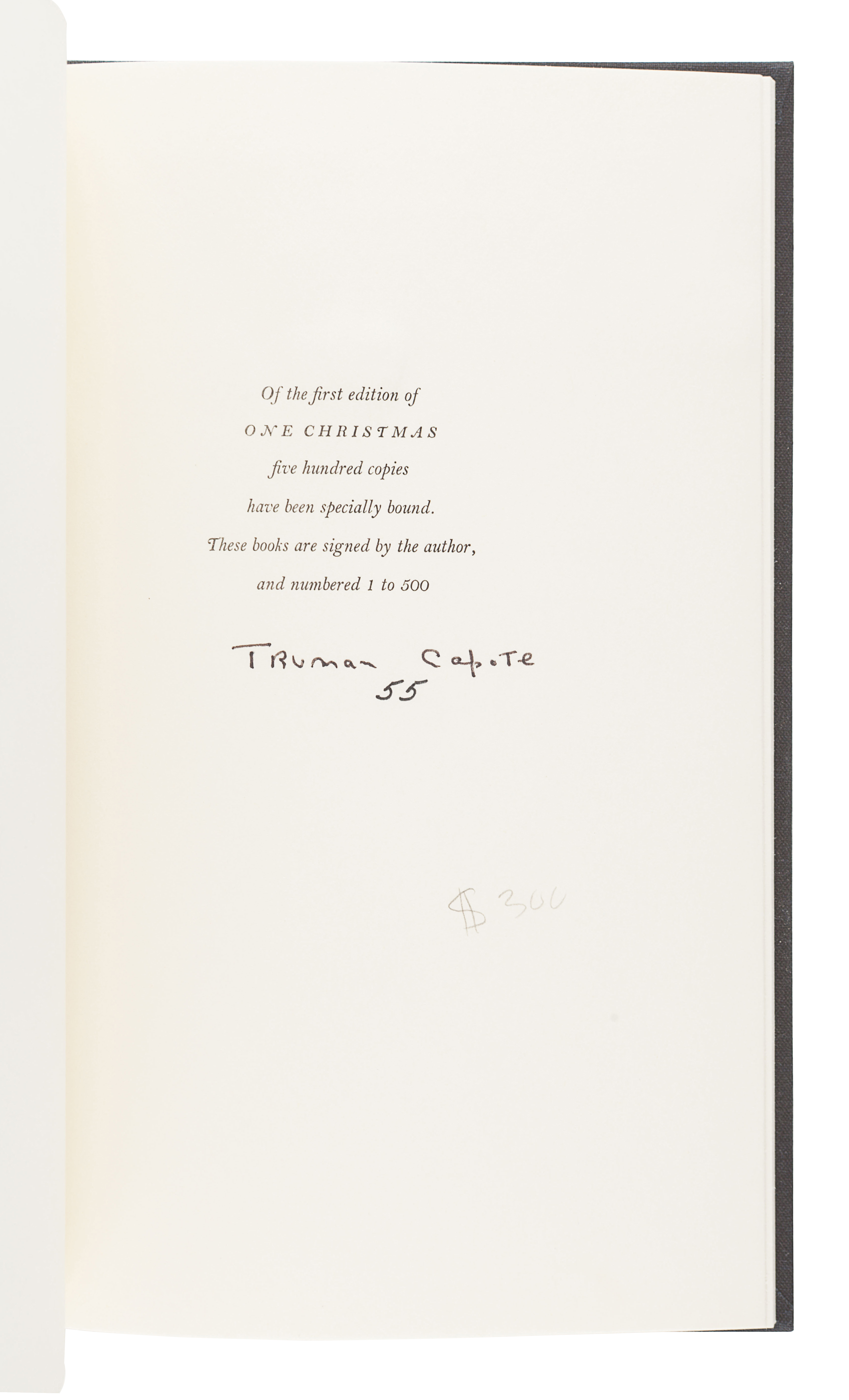 [CAPOTE, Truman (1924-1984)]. A group of 3 FIRST EDITIONS, SIGNED BY CAPOTE, comprising: - Image 2 of 4