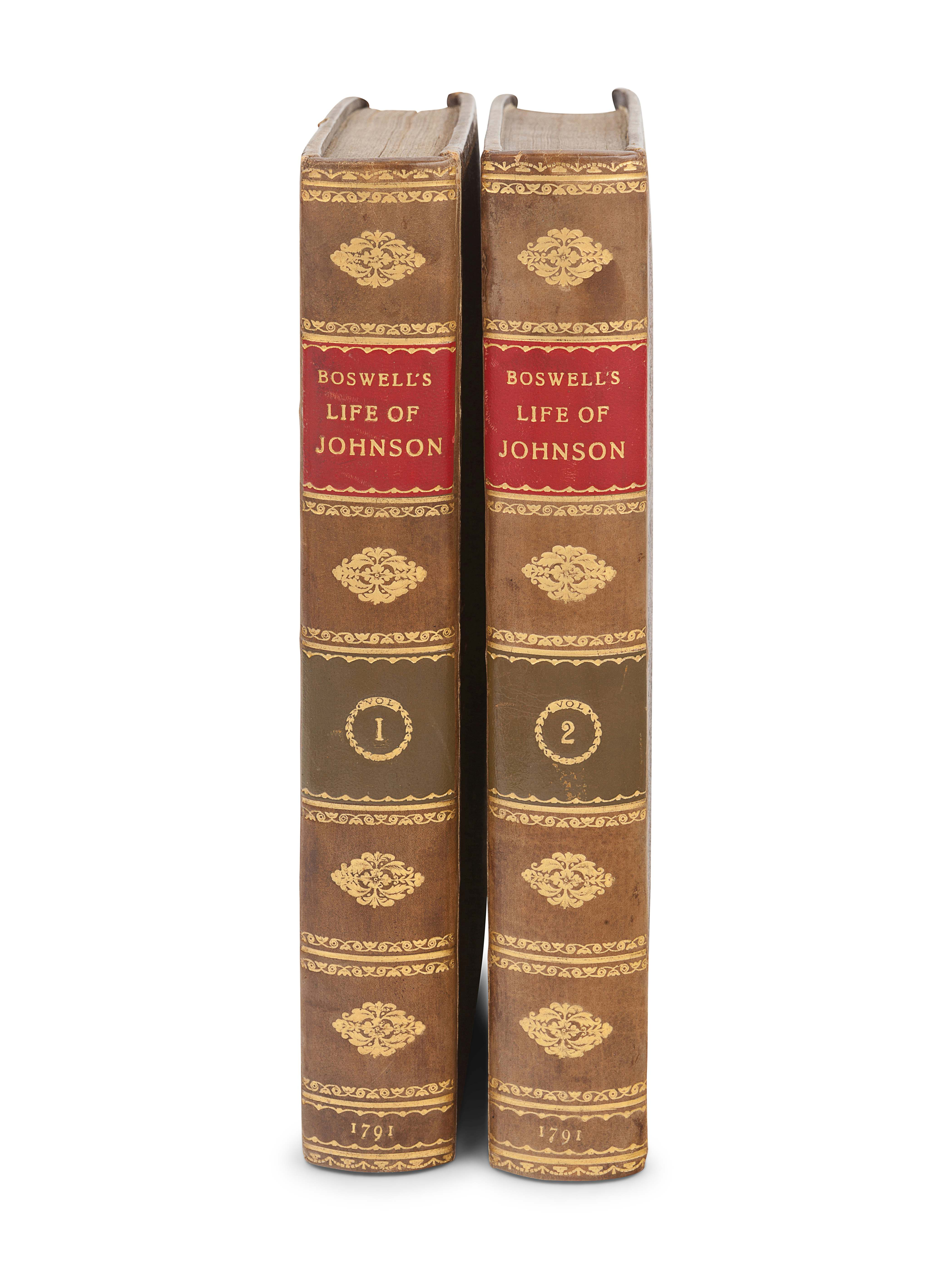 BOSWELL, James (1740-1795). The Life of Samuel Johnson. London: Henry Baldwin for Charles Dilly, 179 - Image 2 of 2