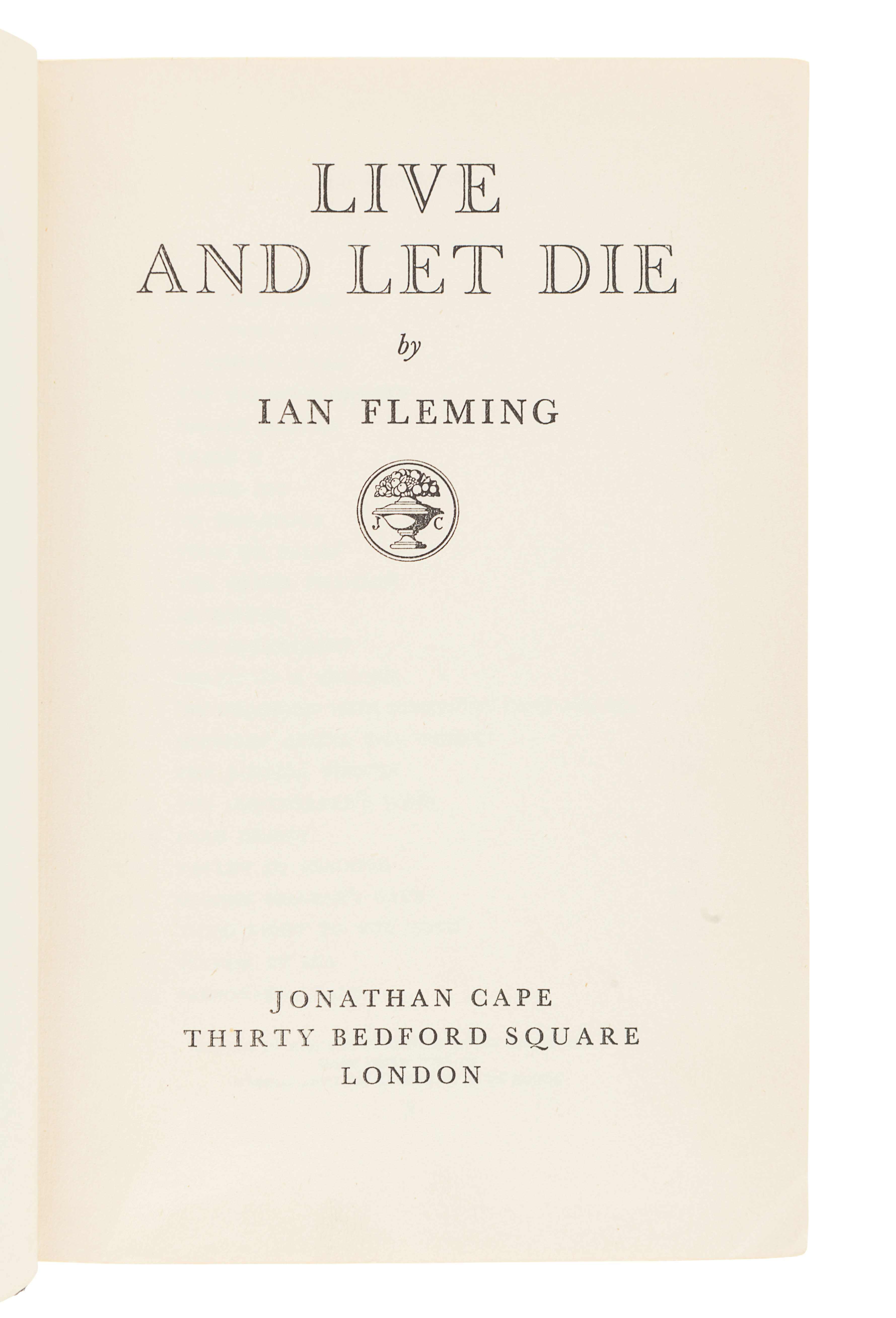 FLEMING, Ian (1908-1964). Live and Let Die. London: Jonathan Cape, 1954. - Image 3 of 3