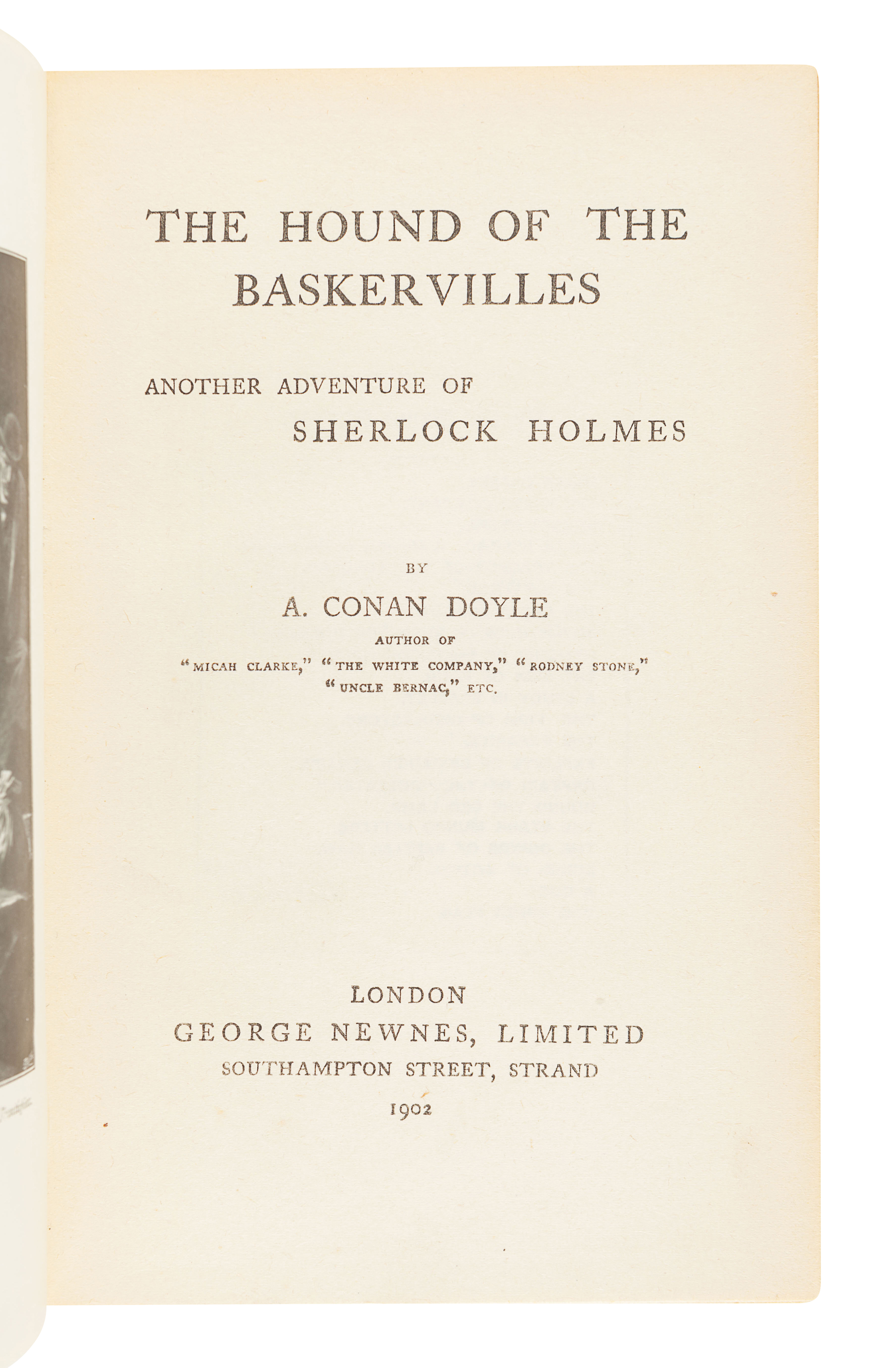 DOYLE, Arthur Conan (1859-1930). The Hound of the Baskervilles. London: George Newnes, Limited, 1902 - Image 3 of 3